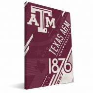 Texas A&M Aggies Retro Canvas Print