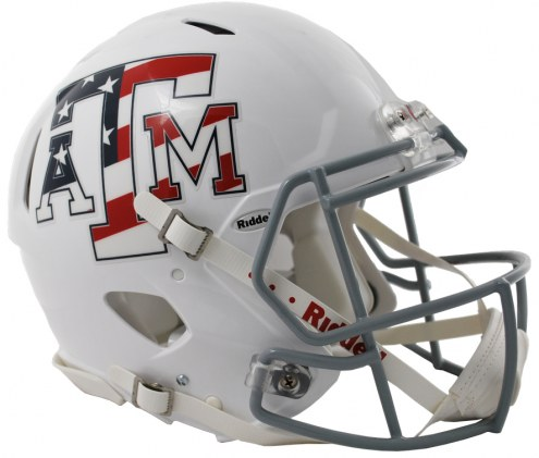 Texas A&M Aggies Riddell Speed Full Size Authentic Stars & Stripes Football Helmet