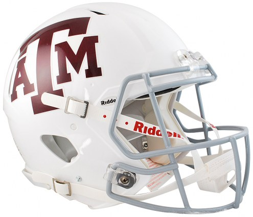 Texas A&M Aggies Riddell Speed Full Size Authentic White Football Helmet