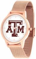 Texas A&M Aggies Rose Mesh Statement Watch