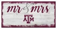 Texas A&M Aggies Script Mr. & Mrs. Sign
