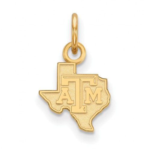 Texas A&M Aggies Sterling Silver Gold Plated Extra Small Pendant