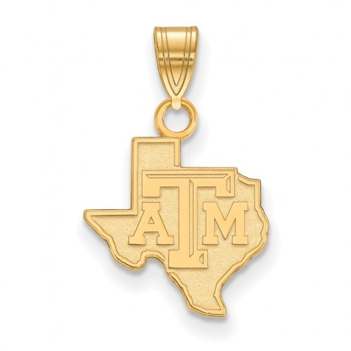 Texas A&M Aggies Sterling Silver Gold Plated Small Pendant