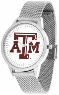 Texas A&M Aggies Silver Mesh Statement Watch