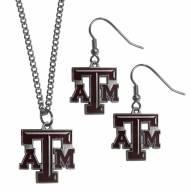 Texas A&M Aggies Dangle Earrings & Chain Necklace Set