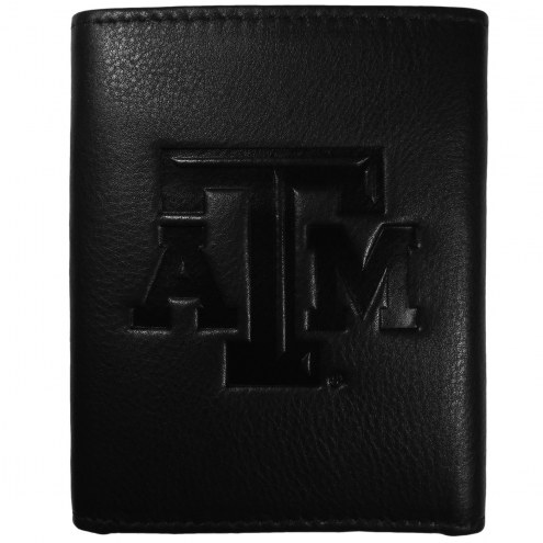 Texas A&M Aggies Embossed Leather Tri-fold Wallet