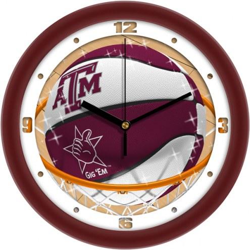 Texas A&M Aggies Slam Dunk Wall Clock