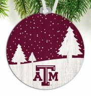 Texas A&M Aggies Snow Scene Ornament