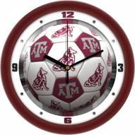 Texas A&M Aggies Soccer Wall Clock