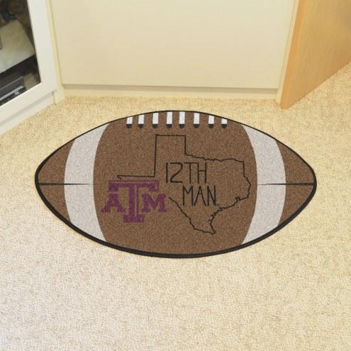 Texas A&M Aggies Southern Style Football Floor Mat