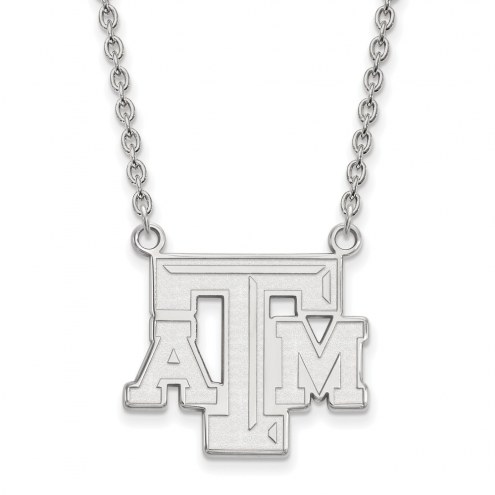 Texas A&M Aggies Sterling Silver Large Pendant Necklace