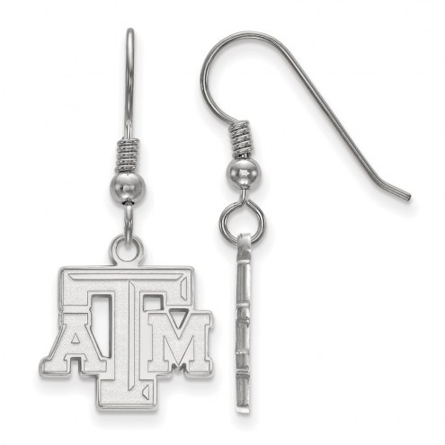 Texas A&M Aggies Sterling Silver Small Dangle Earrings