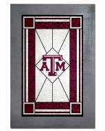Texas A&M Aggies Stained Glass with Frame