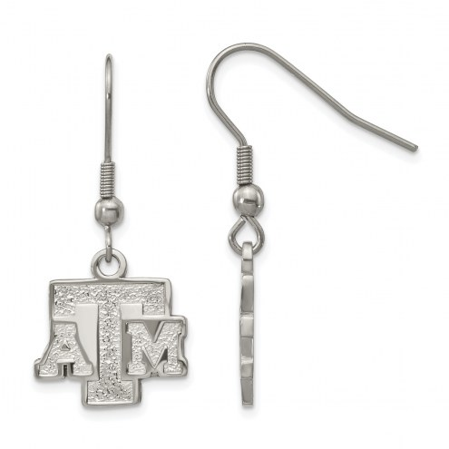 Texas A&M Aggies Stainless Steel Dangle Earrings