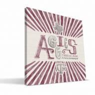 Texas A&M Aggies State Canvas Print