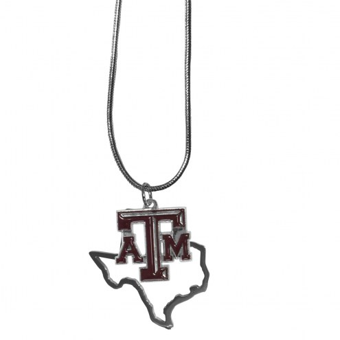Texas A&M Aggies State Charm Necklace