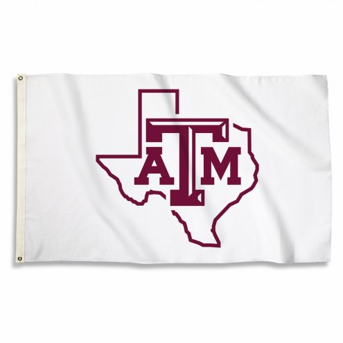 Texas A&M Aggies State White 3' x 5' Flag