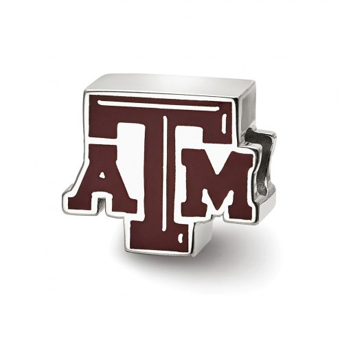 Texas A&M Aggies Sterling Silver Enameled Bead
