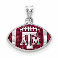 Texas A&M Aggies Sterling Silver Enameled Football Pendant