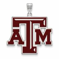 Texas A&M Aggies Sterling Silver Extra Large Enameled Pendant