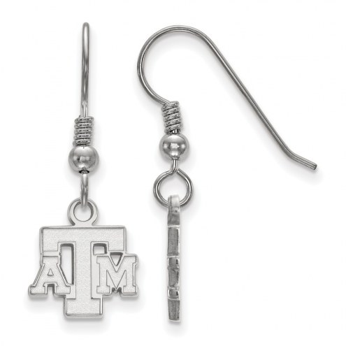 Texas A&M Aggies Sterling Silver Extra Small Dangle Earrings