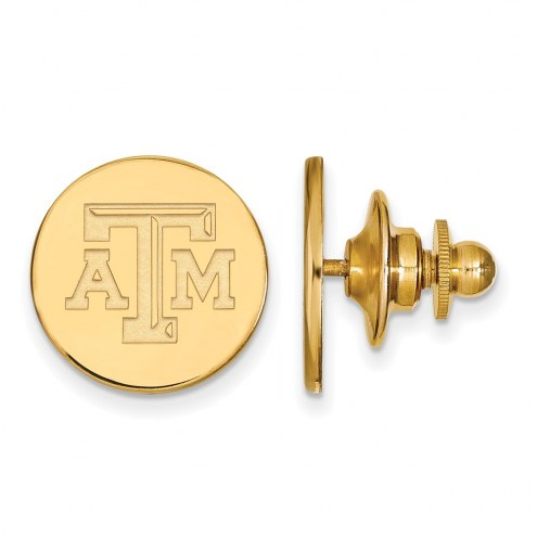 Texas A&M Aggies Sterling Silver Gold Plated Lapel Pin