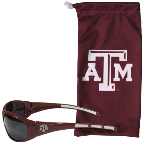 Texas A&M Aggies Sunglasses and Bag Set