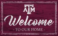 Texas A&M Aggies Team Color Welcome Sign