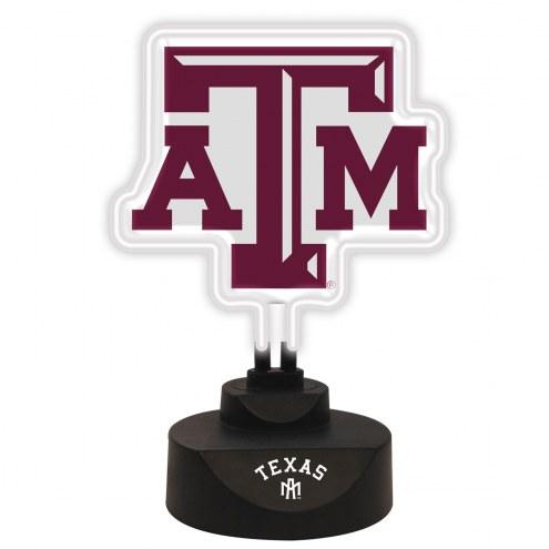 Texas A&M Aggies Team Logo Neon Light
