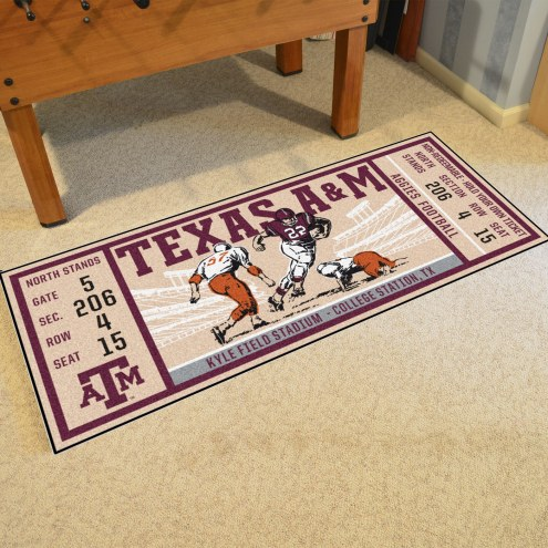 Texas A&M Aggies Ticket Runner Rug