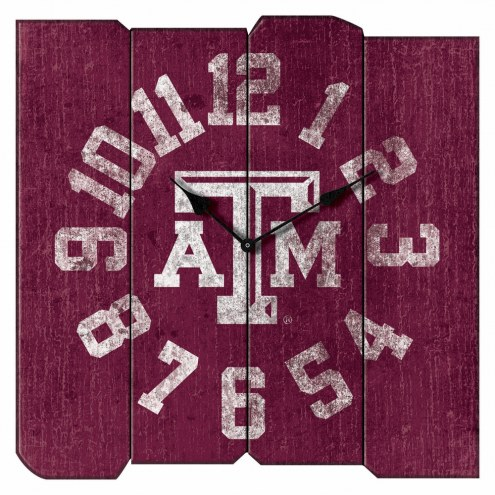 Texas A&M Aggies Vintage Square Clock