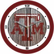 Texas A&M Aggies Weathered Wood Wall Clock