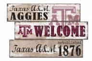 Texas A&M Aggies Welcome 3 Plank Sign