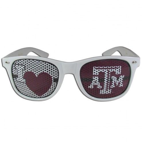 Texas A&M Aggies White I Heart Game Day Shades
