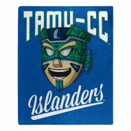 Texas A&M-Corpus Christi Islanders Alumni Raschel Throw Blanket