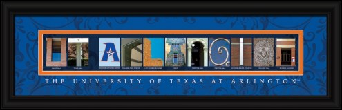 Texas-Arlington Mavericks Campus Letter Art