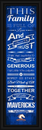 Texas-Arlington Mavericks Family Cheer Framed Art