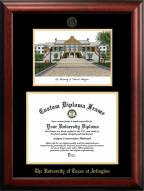 Texas-Arlington Mavericks Gold Embossed Diploma Frame with Campus Images Lithograph
