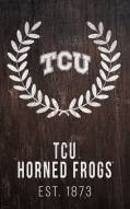 "Texas Christian Horned Frogs 11"" x 19"" Laurel Wreath Sign"