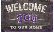 "Texas Christian Horned Frogs 11"" x 19"" Welcome to Our Home Sign"