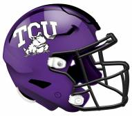 """Texas Christian Horned Frogs 12"""" Helmet Sign"""