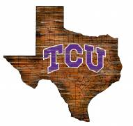 "Texas Christian Horned Frogs 12"" Roadmap State Sign"
