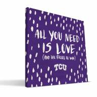 """Texas Christian Horned Frogs 12"""" x 12"""" All You Need Canvas Print"""