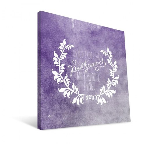"Texas Christian Horned Frogs 12"" x 12"" Favorite Thing Canvas Print"