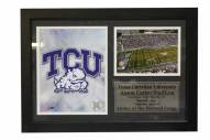"Texas Christian Horned Frogs 12"" x 18"" Photo Stat Frame"