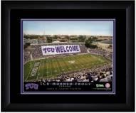 Texas Christian Horned Frogs 13 x 16 Personalized Framed Stadium Print