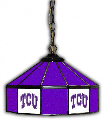 """Texas Christian Horned Frogs 14"""" Glass Pub Lamp"""