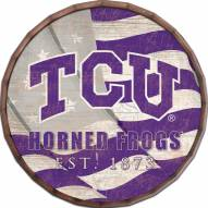 "Texas Christian Horned Frogs 16"" Flag Barrel Top"
