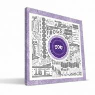 """Texas Christian Horned Frogs 16"""" x 16"""" Pictograph Canvas Print"""