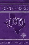 "Texas Christian Horned Frogs 17"" x 26"" Coordinates Sign"